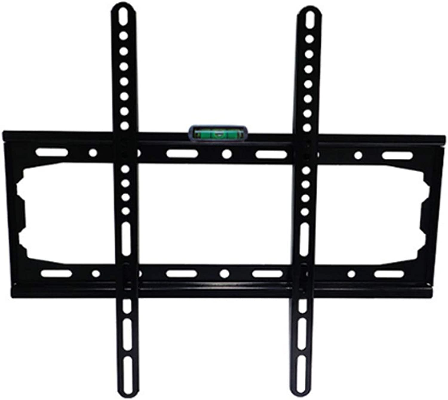 Integrated Fixed TV Wall Mount Bracket Fits Most 26  to 55  Screen Universal LED LCD TV Rack Contains a Level Device Super Strong 45kg Weight Capacity
