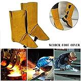 Zapatos de protección de cuero para soldaduras,Bloomma cubierta de pies para soldador, protección de seguridad para pies resistente a las llamas