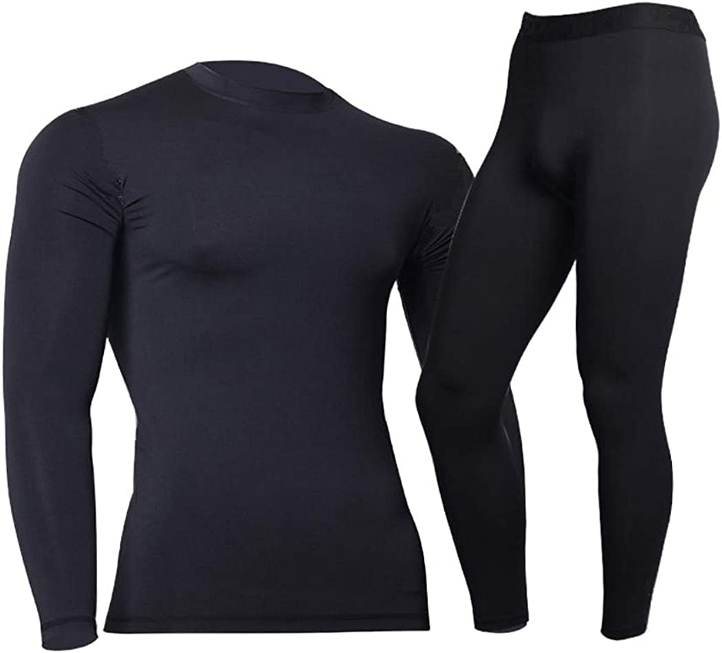 Winter Thermal Underwear for Men,Keep Warm Long Johns,Fitness Flecce Legging Tight Undershirts,Quick Drying Thermo Base Layer