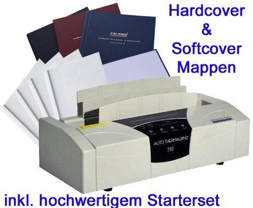 Profi-Thermobindegerät T 80 DIPLOMAT, inkl. Starterset mit Softcovermappen und Hardcovermappen
