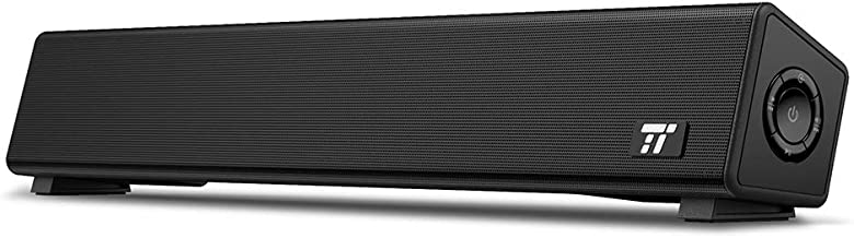 TaoTronics Bluetooth 5.0 Computer Speaker, Wired/Wireless Computer Sound Bar, Mini Soundbar Speaker for PC/Cellphone/Tablets/Desktop/Laptop, RCA/Aux Connection