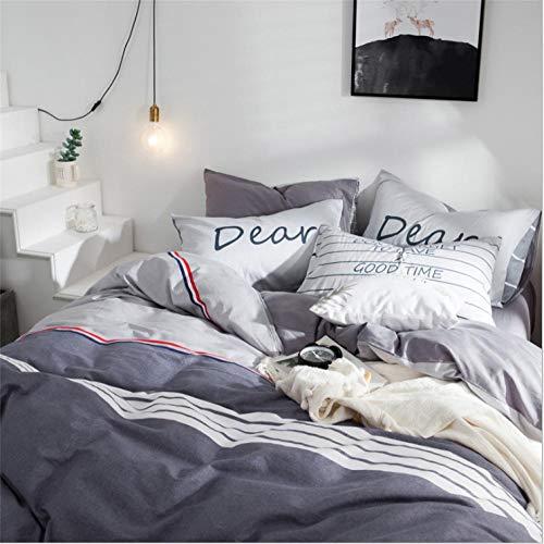 IRCATH bestaande uit kussenslopen en beddengoed – 4-delige katoenen jurk – eenvoudig voor Dormitorio katoen, gewatteerd, 3-delig