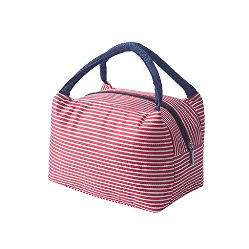 Amuse-MIUMIU Kühltasche Klein Leicht Lunch Tasche für Herren, Damen und Kinder, Wasserdicht und Leichte Lunchbag Mittagessen Tasche Thermotasche Isoliertasche für die Arbeit und die Schule (Rosa)