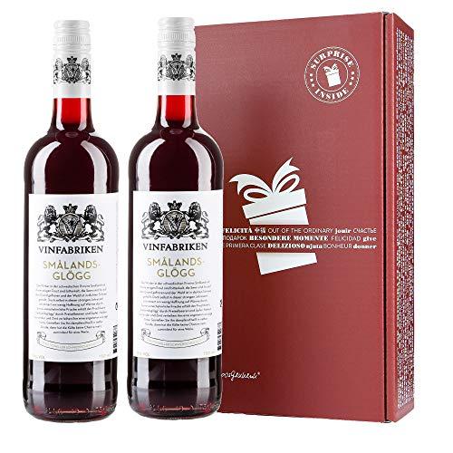 Vinfabriken Smalands Glögg inkl. Verpackung - Traditioneller Schwedischer Glühwein aus Preiselbeer-/Apfelwein (2er Pack in GVP)