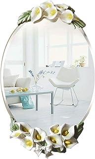 MXD Mirror Bathroom Mirror Waterproof Moisture Fashion Calla Lily Mirror Wall Mirror Vanity Mirror