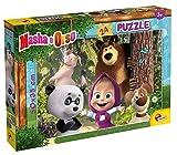 Liscianigiochi- Puzzle 35x50 cm de 24 Piezas Masha y el Oso Puzle para niños, Multicolor (86078)