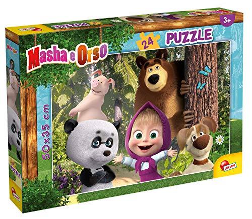 Lisciani Giochi - Masha Puzzle Plus 24, Diventiamo Amici?!Puzzle per Bambini, Multicolore,...