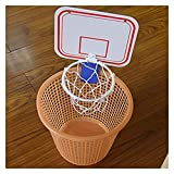 Canestro da Basket Indoor Pieghevole Coperta Sospensione Portatile Libero Punch Mini plastica Pallacanestro Basket Frame Set Mini (Color : White)