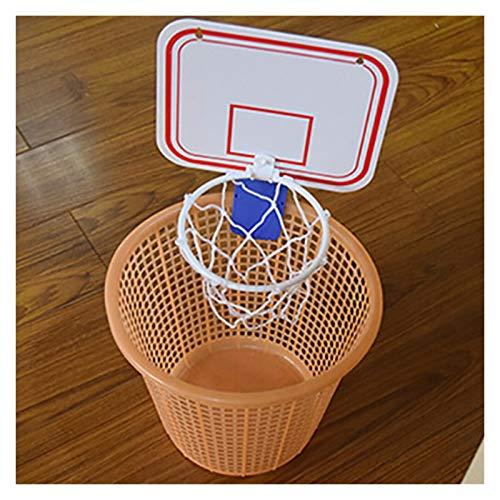 Canestro da Basket Indoor Pieghevole Coperta Sospensione Portatile Libero Punch Mini plastica Pallacanestro Basket Frame Set Mini (Color : White)