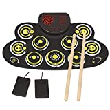 Electronic Drum Set Electronic Roll Up Practice Drum Pad Portable Drum Kit with Built
