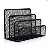 Gather together Mesh Letter Sorter Mail Document Tray Desk Office File Organiser Holder Black -y121 M12 Dropship