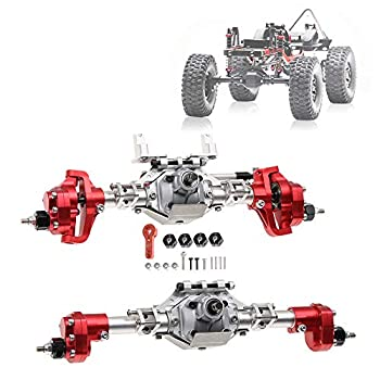 labworkauto Metal Front Rear Portal Axle Kit for 1/10 RC Car Axial SCX10II 90046 90047