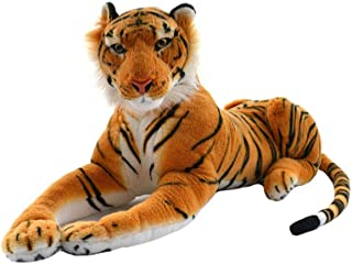 Soft toys Plush toy Simulation Tiger Doll Soft And Comfortable Stuffed Toy Pillow Cushion Ragdoll Send Children Birthday G...