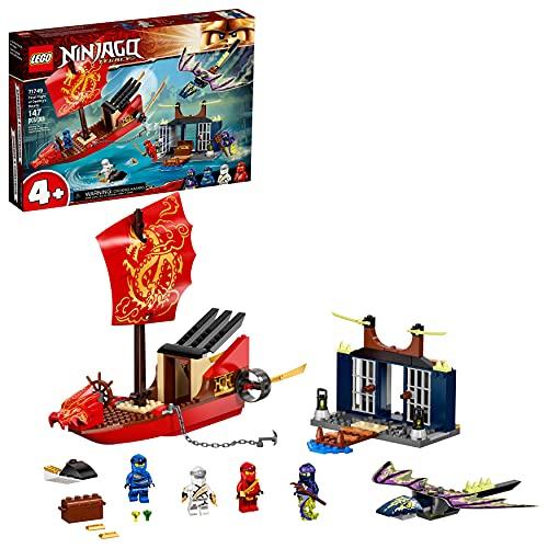 LEGO NINJAGO Legacy Final Flight of Destiny's Bounty 71749 Ship Playset Building Kit, with Dragon and Jet Ski Toys; New 2021 (147 Pieces)