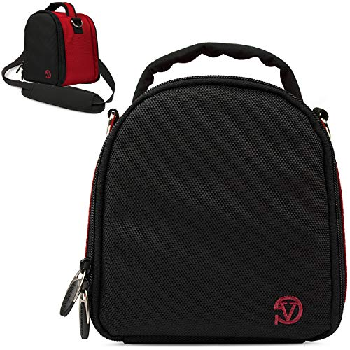 VanGoddy Laurel Fire Red Carrying Case Bag for Sony Cyber-Shot, Alpha, E-Mount, A-Mount Series Camera's
