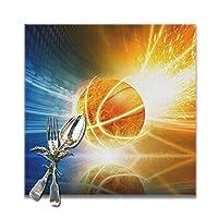 バスケットボール ランチョンマット 食卓マット プレースマット おしゃれ 防汚 滑り止め 撥水 断熱 飾り お手入れ簡単 30 X 30cm 6枚セット
