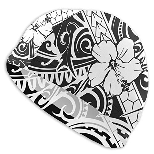 HFHY Hawaiian Style Tribal Adult Summer Swimming Pool Bath Caps for Men Women Unisex