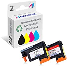 HOTCOLOR 2PK for 940 Black/Yellow & Cyan/Magenta Printhead Remanufactured C4900A C4901A Premium Long-Life New Chip for Officejet Pro 8000 8500 8500A 8500A Plus 8500A Premium