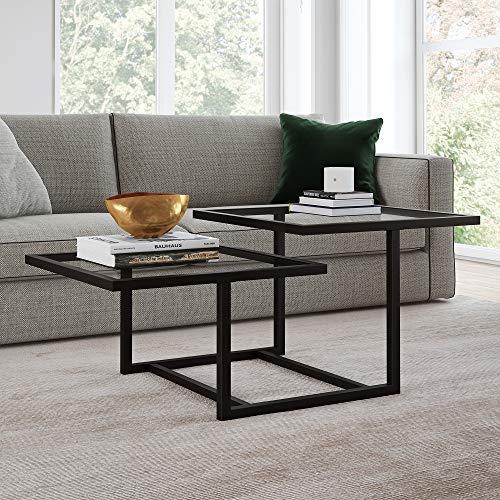 Henn&Hart Modern Chic 2-Tier Coffee Table for Living Room