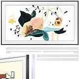 SAMSUNG QN55LS03TAFXZA The Frame 3.0 55 inch QLED Smart 4K UHD TV 2020 Model Bundle 55 inch The Frame Customizable Bezel 2020 White