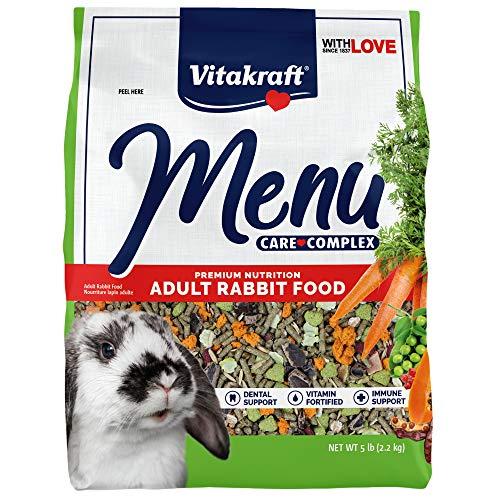 Vitakraft Menú Vitamina Fortificada Comida de conejo para mascotas, 5 libras
