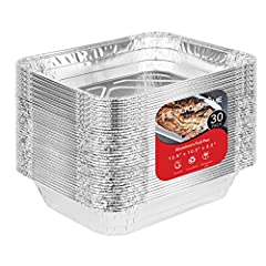 Perfect for BBQ Grilling: Rev up the grill for the BBQ and let's get this party started! With our Aluminum Foil Pan Value Pack, you can do it all! Bake cakes and other treats, grill or roast hearty meats, preserve fresh fruits and vegetables, and so ...