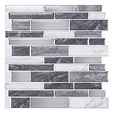 Art3d 10-Sheet Self-Adhesive Tile Backsplash for Kitchen, Vinyl Decorative Tiles, 12'x12'