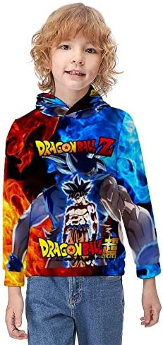 XHX403 Boys Hoodie Sweatshirt Dragon Ball Z Goku 3D Printed Youth Casual Sweatshirt wirh Pocket product image