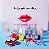 colinsa 31 PCS Lip Glaze Tools Set Lip Plumper Lip Gloss Clear Lip Gloss Base Oil Non-Stick DIY Lip Stick Gel de matières premières pour Le Brillant à lèvres Base Handmade Liquid Lipsticks…