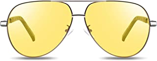 BARCUR Polarized Aviator Sunglasses/Night Vision Glasses for Driving Men Women