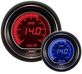 Volt Gauge- Electrical Red/blue EVO Series 52mm (2 1/16