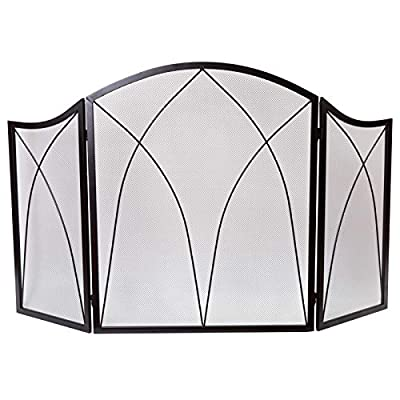 DOEWORKS Three Panel Basic Arch Fireplace Screens by DOEWORKS