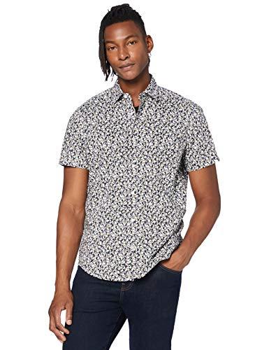 BOSS Rash Camisa, Blanco (White 100), Medium para Hombre