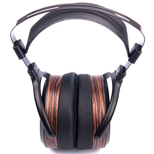 HiFiMAN he-560schwarz, Holz ohraufliegend Stirnband Kopfhörer–Kopfhörer (ohraufliegend, Haarband, 15–50.000HZ, 90dB, 50Ohm, dynamisch)