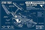 Star Trek Blueprint Enterprise Blueprint Poster Dr