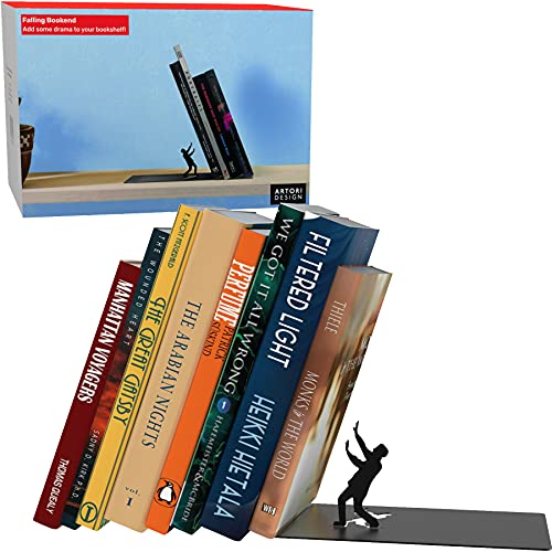 Product Image of the Unique Metal Decorative Bookends - Whimsical Hidden Book Ends for a Cool Book...