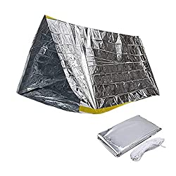Juvale Emergency Shelter, Tube Tent (94.6 x 61 in, 2 Pack)