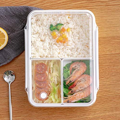 zyl Fiambrera bento a Prueba de Fugas para niños microondas 3 Compartimentos contenedor de Almuerzo Dividido Bonita Caja de preparación Segura para niños niñas niños Escuela (A)