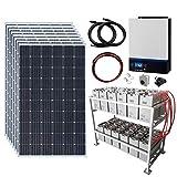 Sistema completo de energía solar fuera de la red de 2,4 kW 48 V...