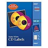Avery Matte White CD Labels for Inkjet Printers, 16 Face Labels and 32 Spine Labels (28669)