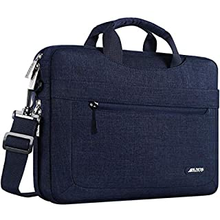 MOSISO Laptop Shoulder Bag Compatible with 2019 MacBook Pro 16 inch Touch Bar A2141, 15-15.6 inch MacBook Pro,Notebook,Polyester Messenger Briefcase Sleeve with Adjustable Depth at Bottom, Navy Blue (B07C7C8GB4)   Amazon price tracker / tracking, Amazon price history charts, Amazon price watches, Amazon price drop alerts