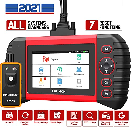 LAUNCH Scan Tool CRP Touch PRO Elite 2021 Newest All System Diagnostic Scanner Tool, 7 Reset Services Oil SAS EBP BMS DPF ABS Bleeding Throttle Adaptation Auto VIN 7.0 Android, One-Click Free Update