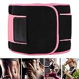 BHDK Soporte de Cintura Deportiva, Cintura de Fitness Rosa Que se Adapta a la Parte Inferior del Abdomen con 2 tamaños Diferentes para Hacer Ejercicio(S)