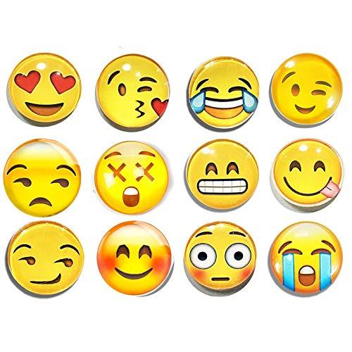 Shengchu - Juego 12 imanes Nevera diseño emoticonos