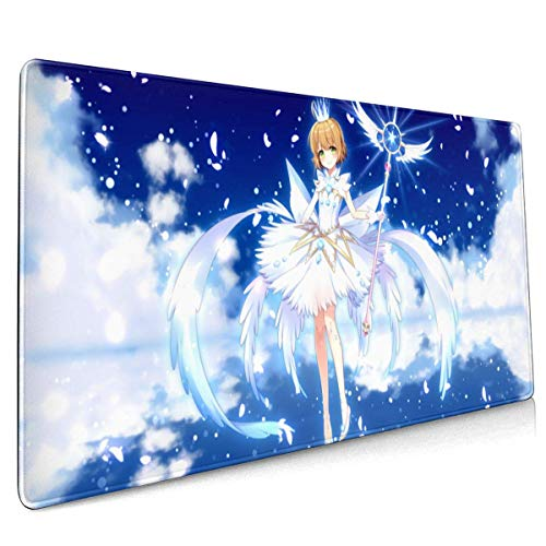 Mouse Pad Cardcaptor Sakura Large Mouse Pad, Gaming Mouse Pad, Non-Slip Mouse Pad, Home Mouse Pad, Office Mouse Pad 40 X 90 cm (15.8x35.5 Inches)