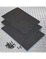 Gereedschapsmat voor gereedschapswagens 3x met 100 pinnen