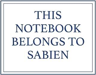 This Notebook Belongs to Sabien