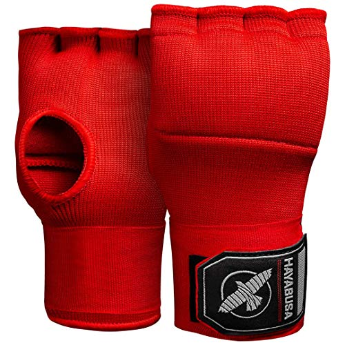 Hayabusa Quick Gel Boxing Hand Wrap Gloves  Red Large