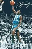 Michael Jordan Autograph Replica Super Print - North Carolina Tar Heels - Portrait - Unframed