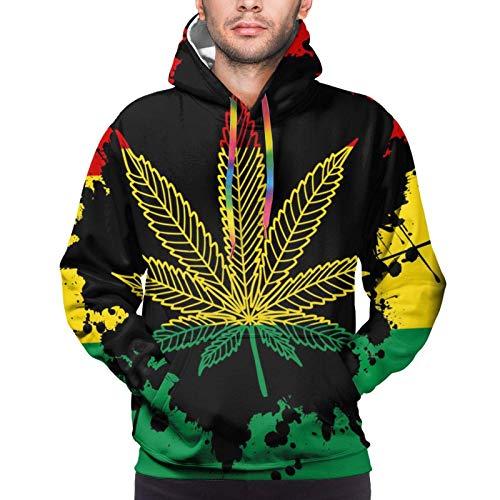 Sudaderas atléticas para hombre y niño, bandera rasta marihuana, marihuana, marihuana, marihuana, marihuana, marihuana, maleza, hoja